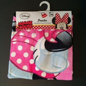 Minnie Mouse bad poncho met oren