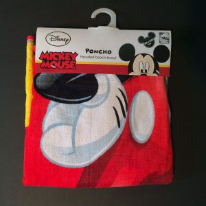 Mickey Mouse bad poncho met oren