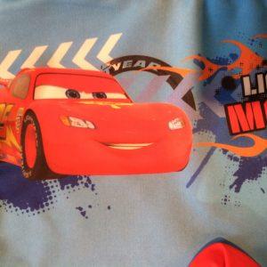 Jongens Cars zwembroek rood detail
