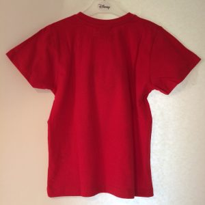 Jongens Cars shirt rood achterkant