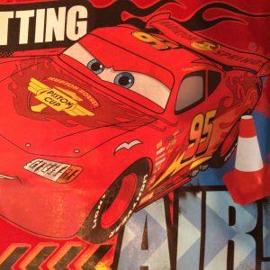 Jongens Cars shirt rood detail