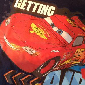 Jongens Cars shirt blauw detail