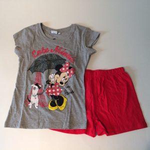 Meisjes pyjama Minnie grijs