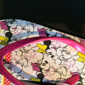 Minnie slippers detail