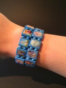 Frozen Houten Armband Blauw