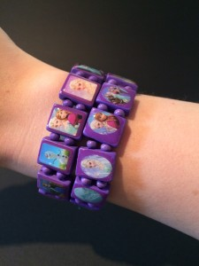 Frozen Houten Armband Paars