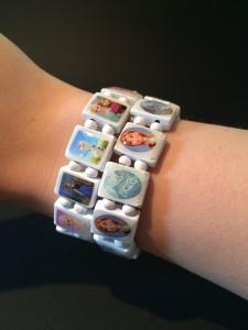 Frozen Houten Armband Wit