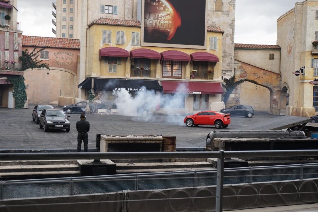 Moteurs... Action! Stunt Show Spectacular schiet