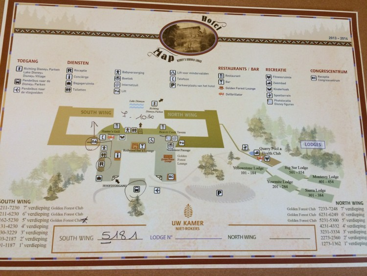 Hotel Sequoia Lodge plattegrond