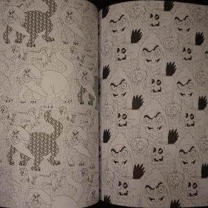 Villains kleurboek achterkant