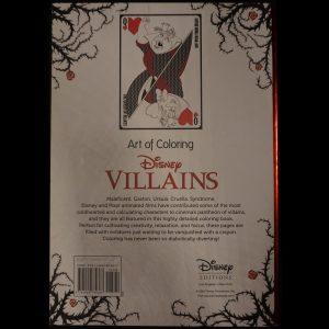 Disney kleuren voor volwassenen (Villains EN) achterkant