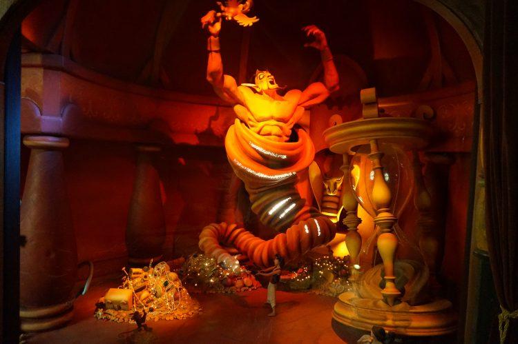 Jafar verslagen Le Passage Enchanté d'Aladdin