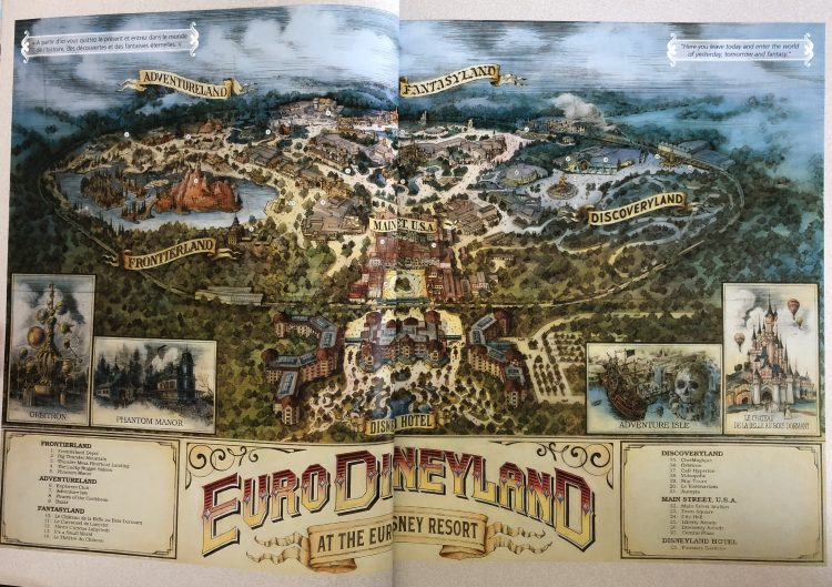 euro disneyland map 1992