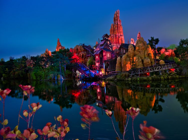 Big Thunder Mountain by night