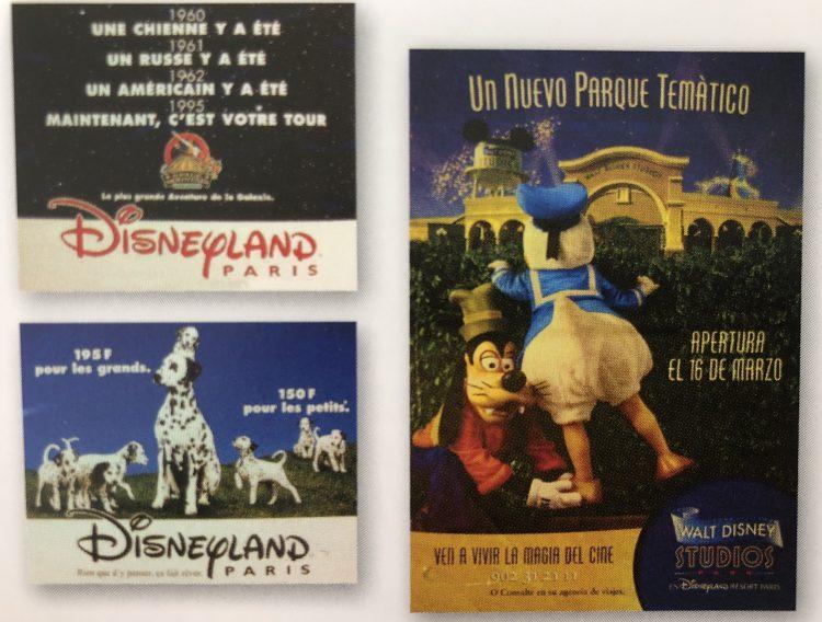 old ads Disneyland Paris