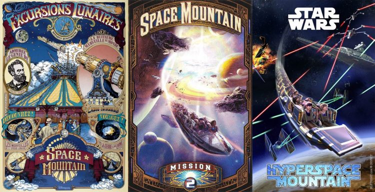 Space Mountain posters