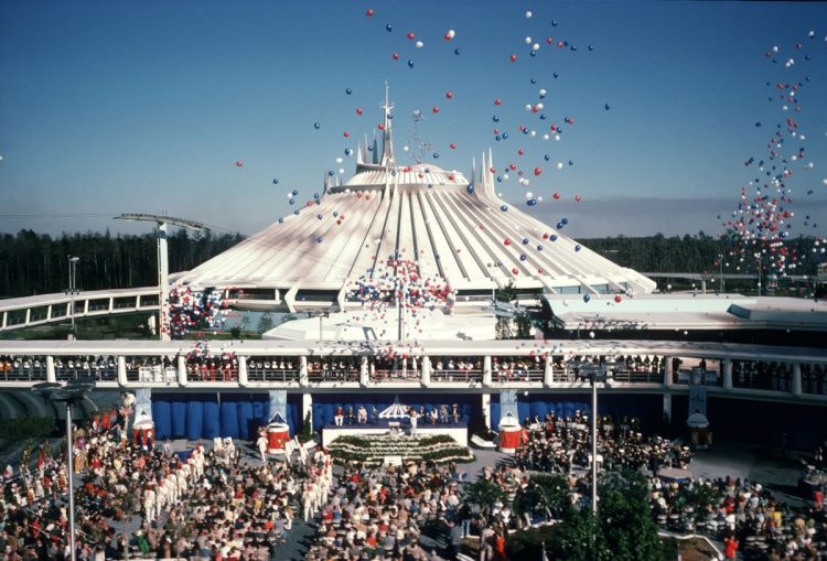 Space Mountain opening 1975
