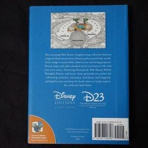 Disney kleuren voor volwassenen (Disney Maps kaarten) achterkant