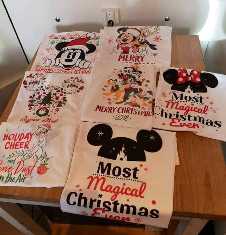 Christmas shirts l'atelier disney fashion