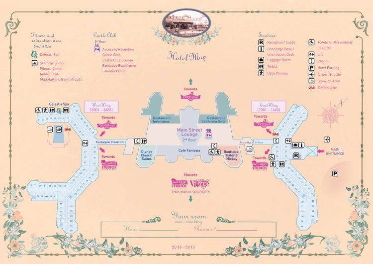 Disneyland Hotel plattegrond