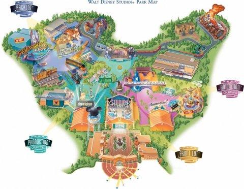 Walt Disney Studios plattegrond 2002