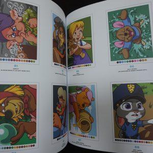 Disney kleuren op nummer (met lijnen 2) binnenkant 1