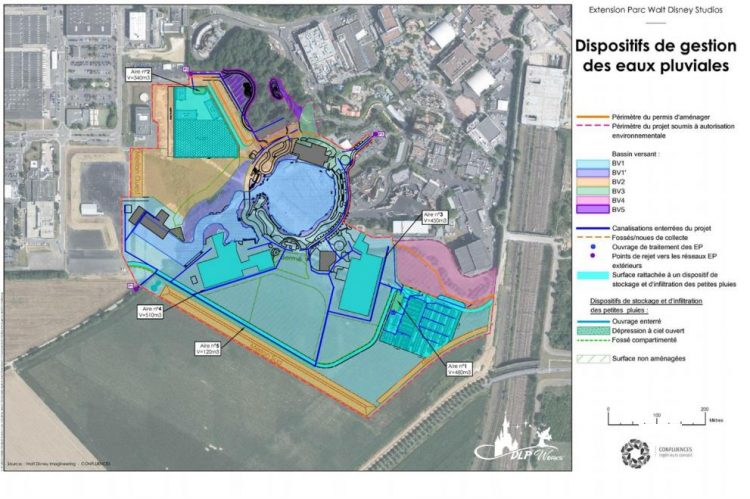 Plattegrond uitbreiding Walt Disney Studios
