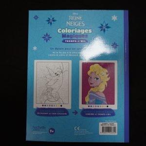 Disney kleuren op nummer Frozen (Junior Misleiding) achterkant