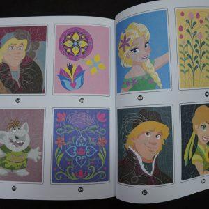 Disney kleuren op nummer Frozen (Junior Misleiding) binnenkant 1