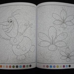 Disney kleuren op nummer Frozen (Junior Misleiding) binnenkant 3
