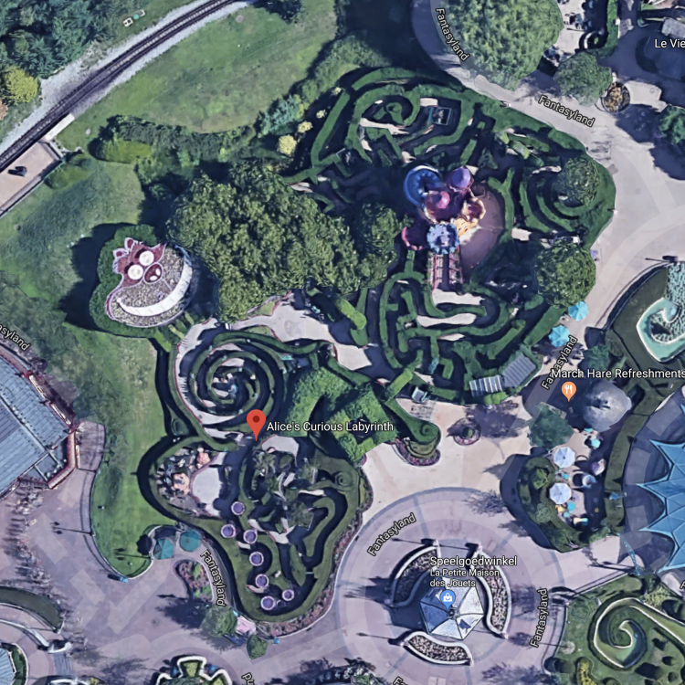 Alice's Curious Labyrinth maps