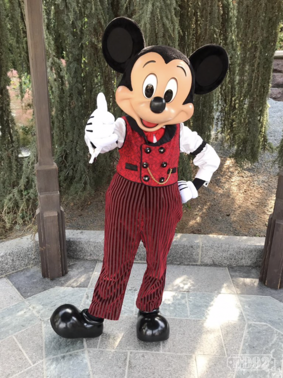 Mickey's nieuwe outfit