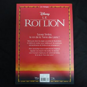 Disney kleuren voor volwassenen blok (Lion King) achterkant