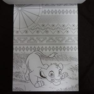 Disney kleuren voor volwassenen blok (Lion King) binnenkant 2