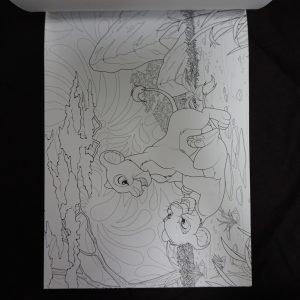 Disney kleuren voor volwassenen blok (Lion King) binnenkant 3