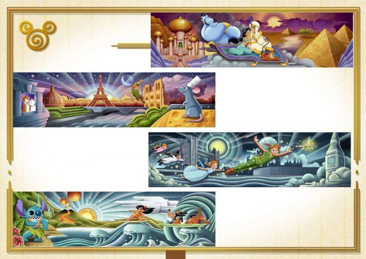 muurschilderingen world of disney store
