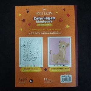 Disney kleuren op nummer Lion King (Junior Misleiding) achterkant