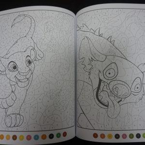 Disney kleuren op nummer Lion King (Junior Misleiding) binnenkant 3