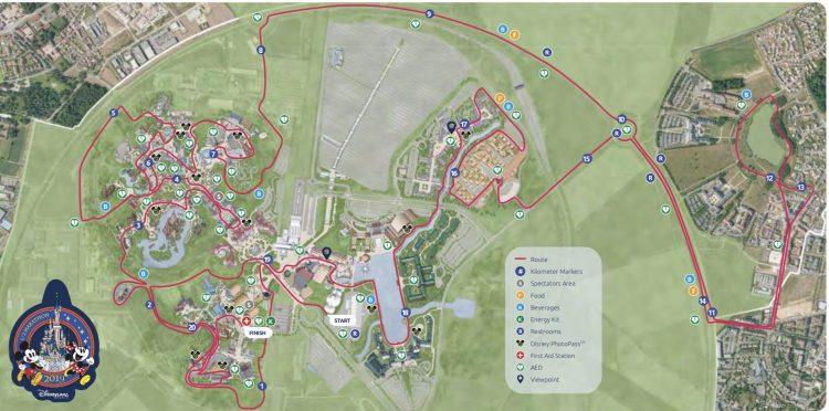 Run Disney 2019 route