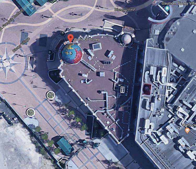 World of Disney Store maps
