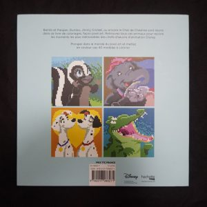 Disney kleuren op nummer vierkant (Dieren) achterkant
