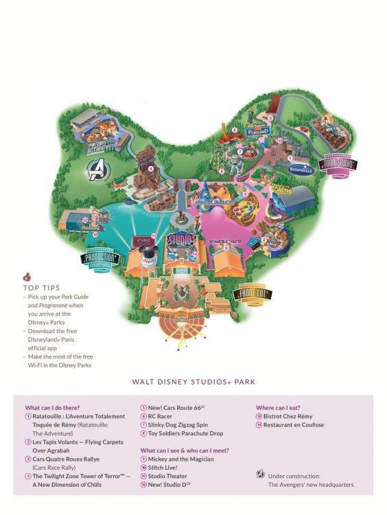 nieuwe plattegrond walt disney studios