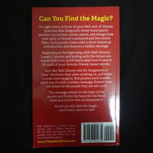 Disney woordzoekerboek achterkant