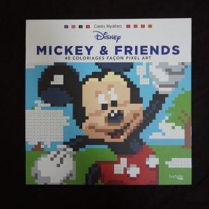 Disney kleuren op nummer vierkant (Mickey & Friends)
