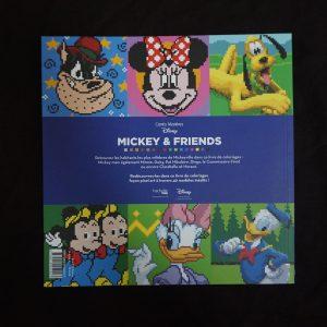 Disney kleuren op nummer vierkant (Mickey & Friends) achterkant