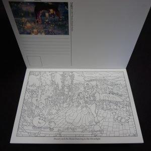 Thomas Kinkade Disney kleuransichtkaarten binnenkant 1