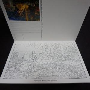 Thomas Kinkade Disney kleuransichtkaarten binnenkant 2
