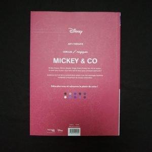 Disney kleuren op nummer Mickey & Co (rond)