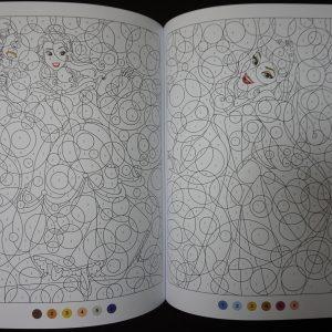 Disney kleuren op nummer rond (Prinses Junior)