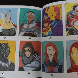 Disney kleuren op nummer misleiding (Marvel Junior)